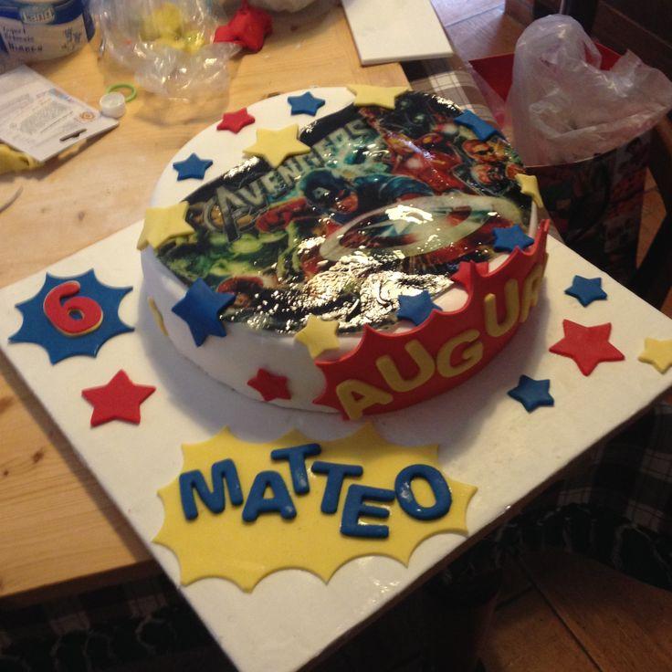Torta Avengers cialda