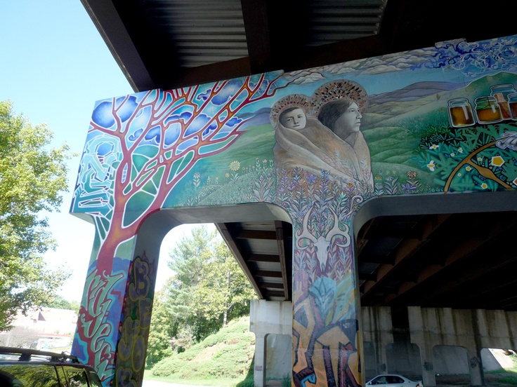 The asheville mural project lexington bridge home for Asheville mural project