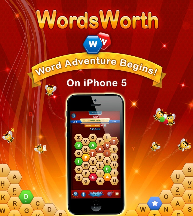 WordsWorth v4.0 is now available on the App Store for your iPhone 5! There's a bunch of new features in v4.0 - Universal Binary, 'Star' system and Power-Ups, More Levels and More!     Check out our www.99games.in/blog to learn more!