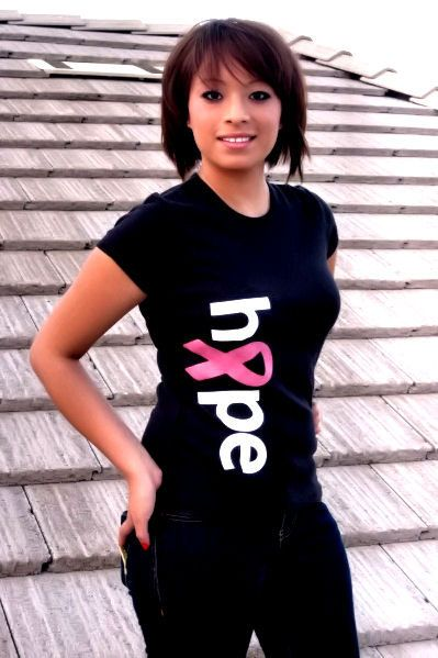 HOPE Feminine Fit Breast Cancer Awareness Tshirt by tees4acure, $21.95