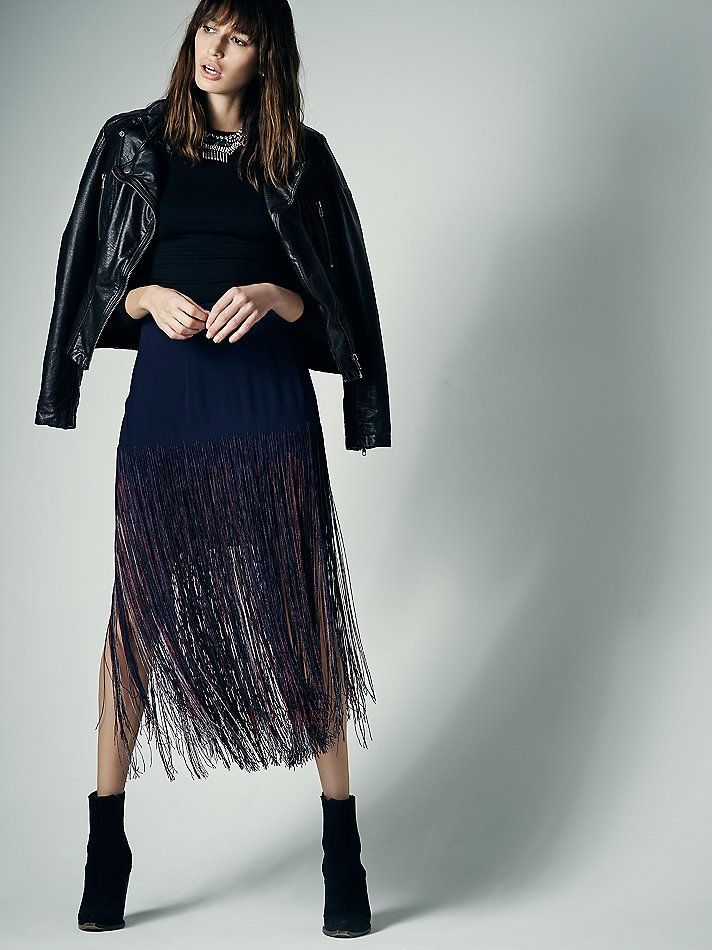 Free People Aubrie Fringe Skirt, £325.00