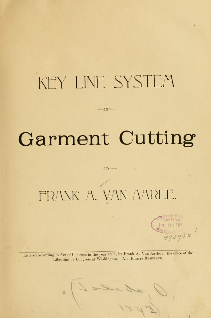 Patterns for men, 1892! Full book online: Key line system of garment cutting