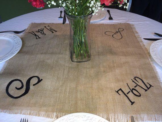 Burlap Wedding Reception Table Topper