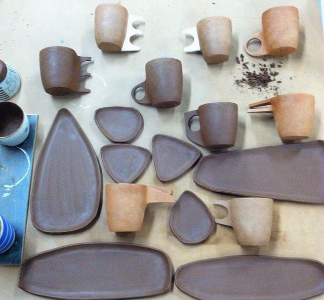 @carnevaleclay (instagram) mug aquatic series (handles inspired by the nautical alphabet)