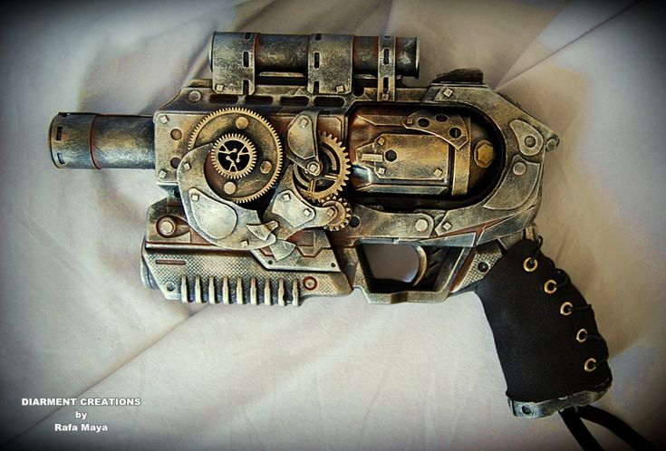 STEAMPUNK  A very Steampunky Raygun  Found HERE
