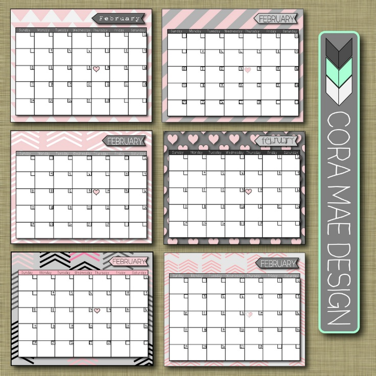 25+ best ideas about February calendar on Pinterest | Free ...