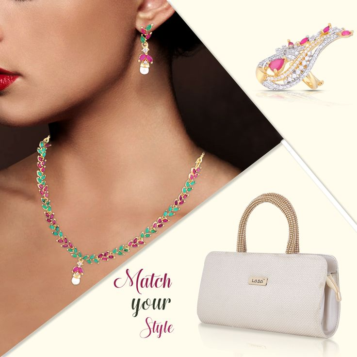 Get Complete look from jewlot in one touch, perfect match for every occasion. #jewlot#jewellery#clutch#easyreturns shop here:  necklace :http://bit.ly/2pN0XQG ring :http://bit.ly/2pMXsaX clutch :http://bit.ly/2pGza3S