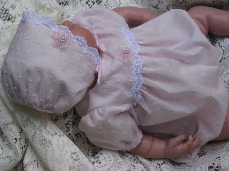 """Romper and Bonnet -Hand Made - Fits 20-22"""" Reborn Doll"""