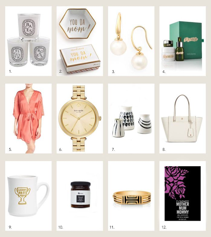 STYLE ME GRASIE » fashion & lifestyle blog by grasie mercedes  style me wants : mother's day gifts  // style me grasie grasie mercedes picks for mom gifts mother's day presents thoughtful caring momma candles la mer skin care set kits mugs kate spade watch vases anthropologie bags purse robe silk fitbit x tory burch bath soak salts dishes ceramics earrings accessories nordstrom fragrances mac makeup lip kit rose gold