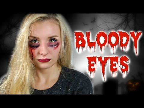 PINTEREST HALLOWEEN TUTORIAL IM TEST! - BLOODY EYES! - YouTube