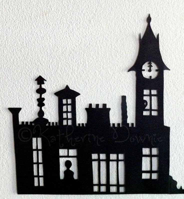 Hand-cut Halloween Silhouettes, Set 1, $12.50 on Etsy!