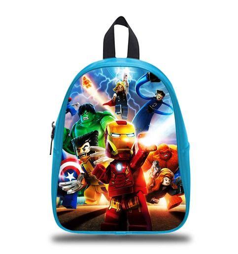 Superhero Lego Movie Schoolbag Backpack S M L Kids School Bag  #bag #backpack #schoolbag #kids #boy #girl #children #custom #personalized #lego #disney #cartoon #princess #book #bags #gift #elementary #son #sister #elsa #olaf #emmet #creeper #marvel #hero #movie #anime #axe #steve