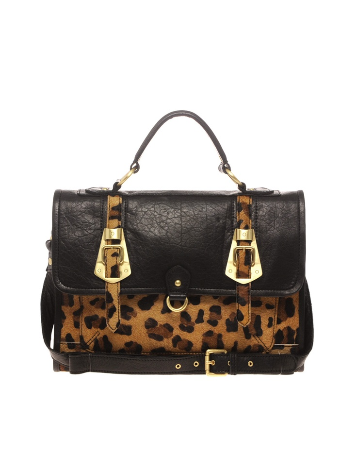love animal printStyle, Metals Buckles, Leather Leopards, Buckles Satchel, Asos Leather, Leopards Prints, Animal Prints, Leopards Metals, Bags