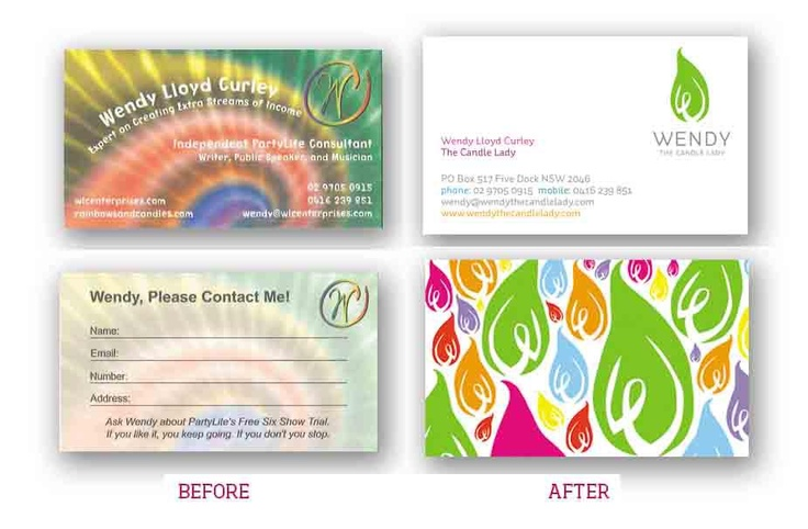 One of our favourite before and afters of #branding and business cards