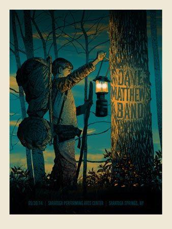 DMB SPAC 2014 SECRET TREE | Dave Matthews Band Posters Archives | Methane Studios