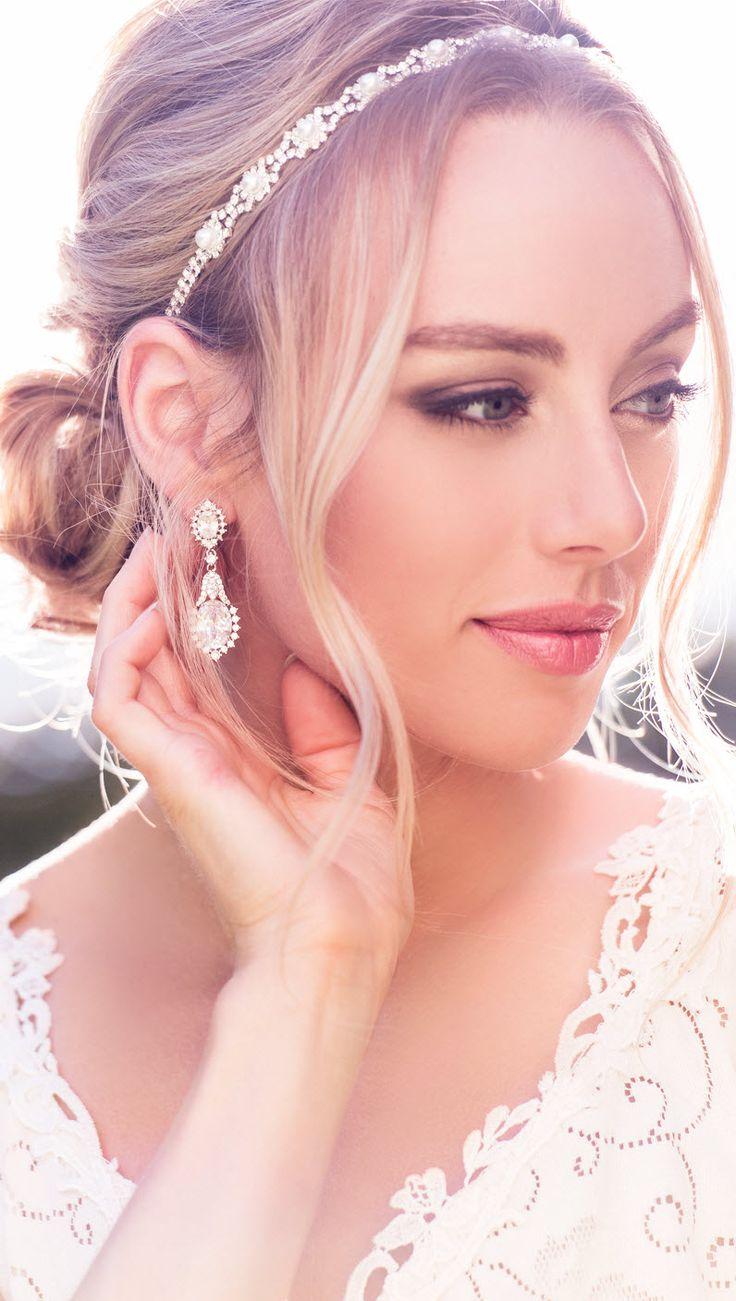 Elegant Ivory Pearl Silver Rhinestone Crystal Bridal Headband, Satin Ribbon, Wedding Headpiece, Pearl Bridal Headband, Hair Accessories