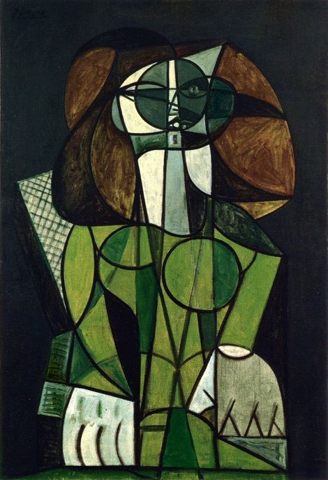 Pablo Picasso, 1946 Femme assise on ArtStack #pablo-picasso #art