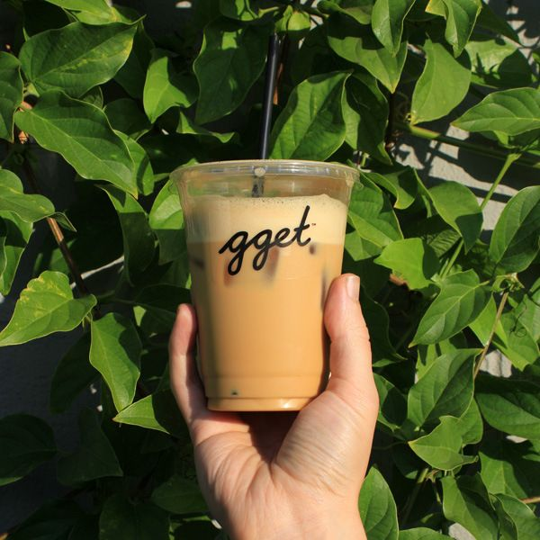 Almond Macadamia latte from Go Get Em Tiger in LA's Larchmont Village