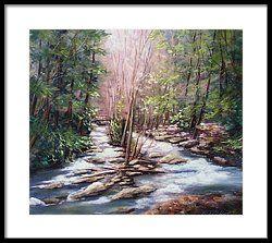 🌹Ramsey Cascades Framed Print by Katherine Tucker