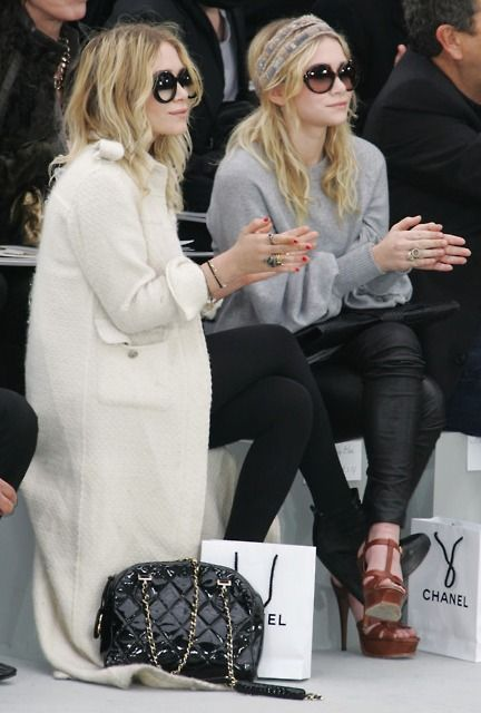 Olsen twins at the Chanel show~Chanel Bag