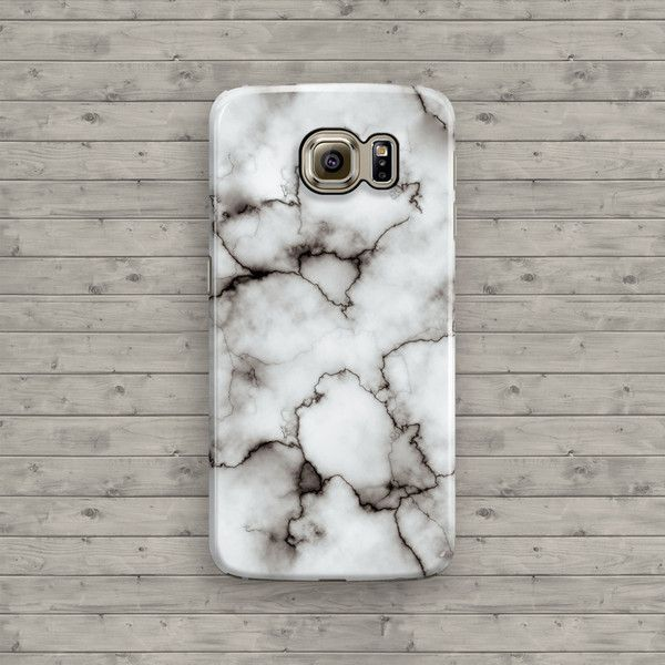 Marble Galaxy S6 Case, White Marble Samsung Galaxy S5, Galaxy S6 Edge,... (280 MXN) ❤ liked on Polyvore featuring accessories, tech accessories and samsung