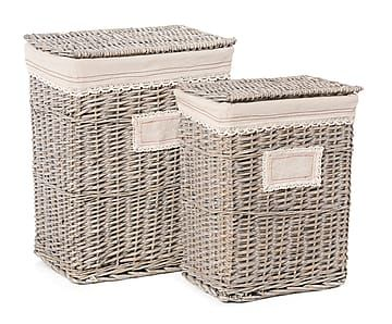Набор из 2 корзин для хранения - ротанг, 45х33х56