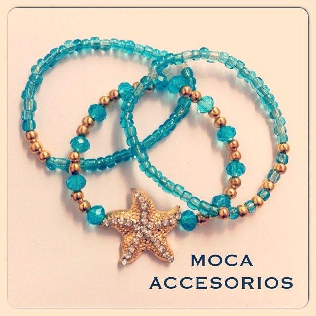 Juego de pulseras Mar Ref.P.M030// #hechoamano #design #trend #colombia #accesoriosdivinos #estrella #mar #madeincolombia #mocaaccesorioscolombia #compracolombiano #yocomprocolombiano
