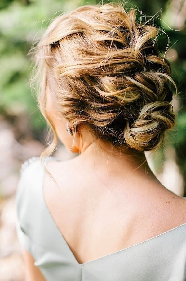Messy Braided Updo for Wedding Hairstyle Ideas