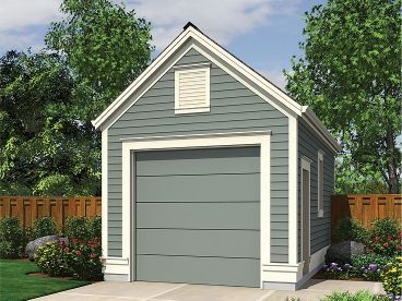1 car garage plan 034g 0019 garages pinterest for 8 car garage plans