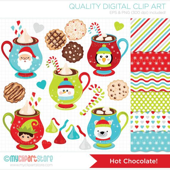 Clipart Combo  Hot Chocolate / Christmas Clip by MyClipArtStore