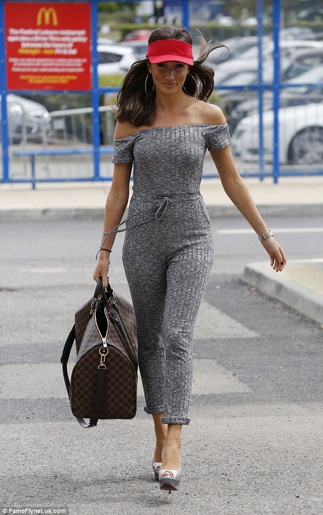 Bootylicious: Megan McKenna poured herself into a sexy jumpsuit while filming the new series of TOWIE on Wednesday morning