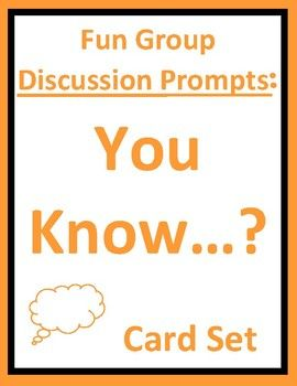 Card set requires students to develop and share creative, funny, and unique answers to the prompts (You know it is Friday when...You know it will be a good day when...). Fun thought-provoking homeroom, advisory, warm-up, icebreaker, or character education group discussion activity for students.