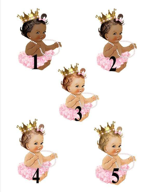 DIGITALDATEI Royal rosa Baby willkommen Poster, Prinzessin