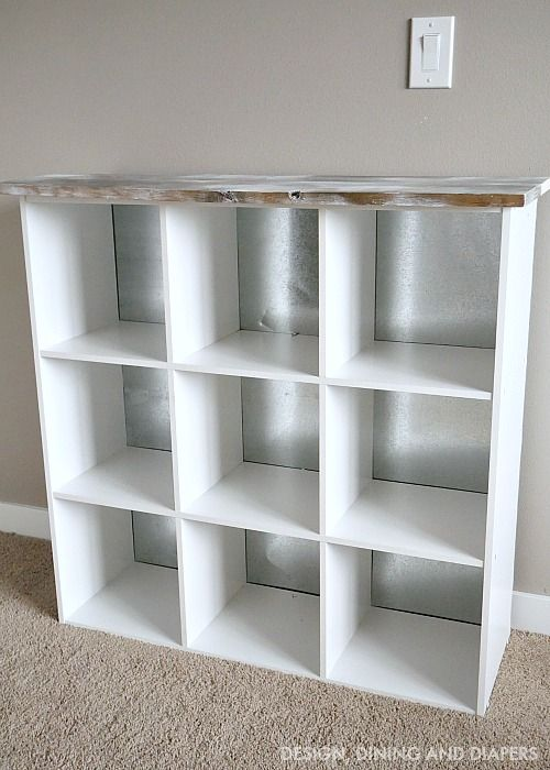DIY Cube Storage Makeover