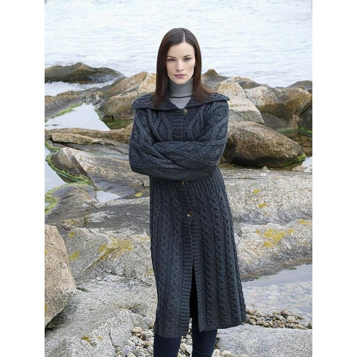 free knitting pattern long cardigan - Google Search Ladies long Coat/Cardi ...