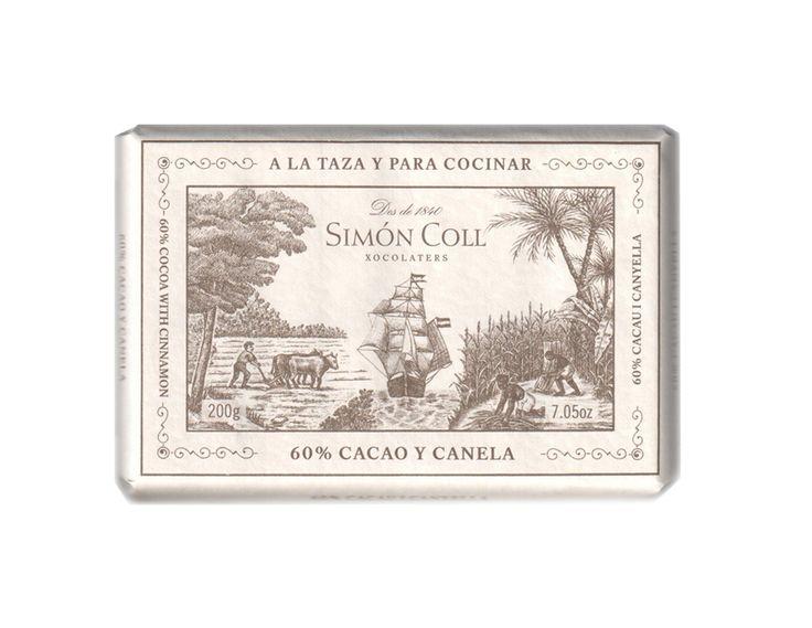 Simon Coll 200g. Ciocolata calda A LA TAZA 60% cacao si scortisoara