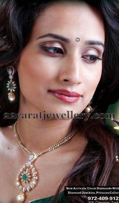Jewellery Designs: Simple Diamond Locket by Tanmai