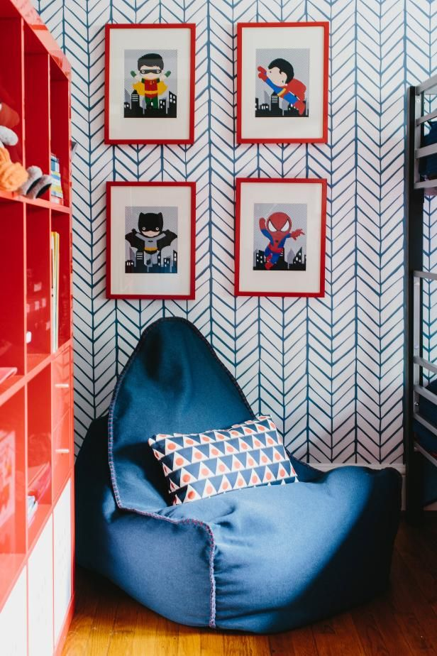 Fun Color, Bold Pattern in Boys' Room | HGTV