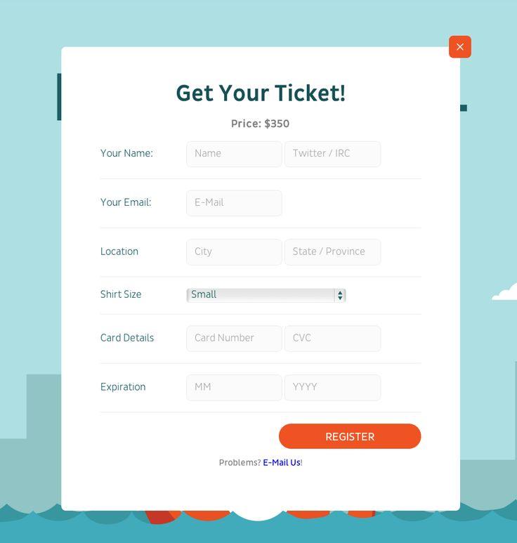 Registration Form Web Design