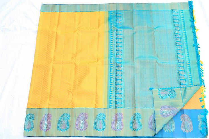 Lemon yellow Kanchipuram wedding saree from silk saree makers. You can buy at http://kanjivaramsilks.com/wedding-sarees-online/00abrid4516-yellow-partly-silk-saree.html Tags: #weddingsarees #silksarees