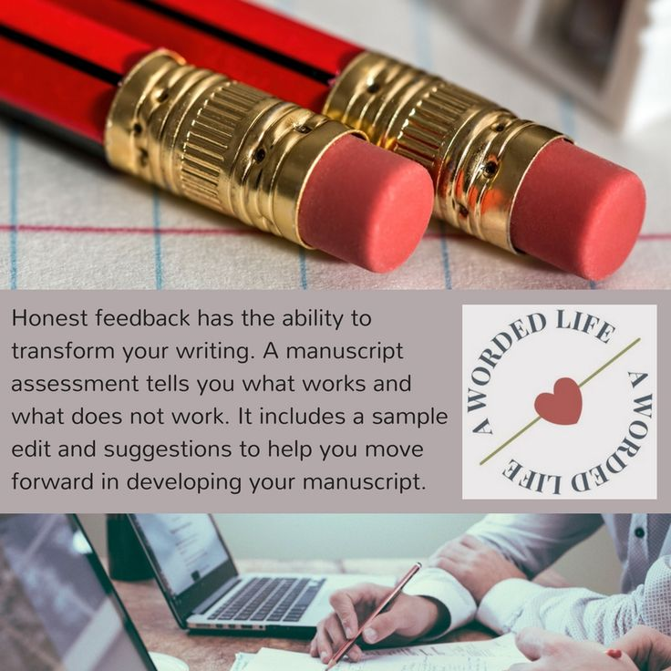 A manuscript assessment helps you present your best writing. http://awordedlife.com/writing/manuscript-assessment