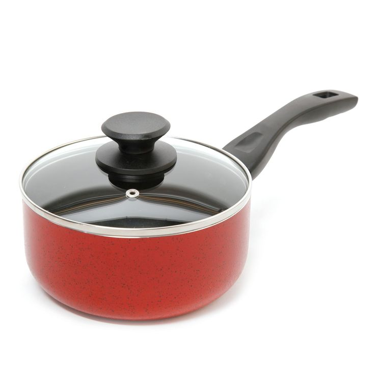 Oster Telford 2.5Qt Saucepan and Lid Red