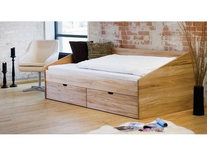 Bett Mit Bettkasten 90x200 Cm Kernbuche Natur Funktionsbett