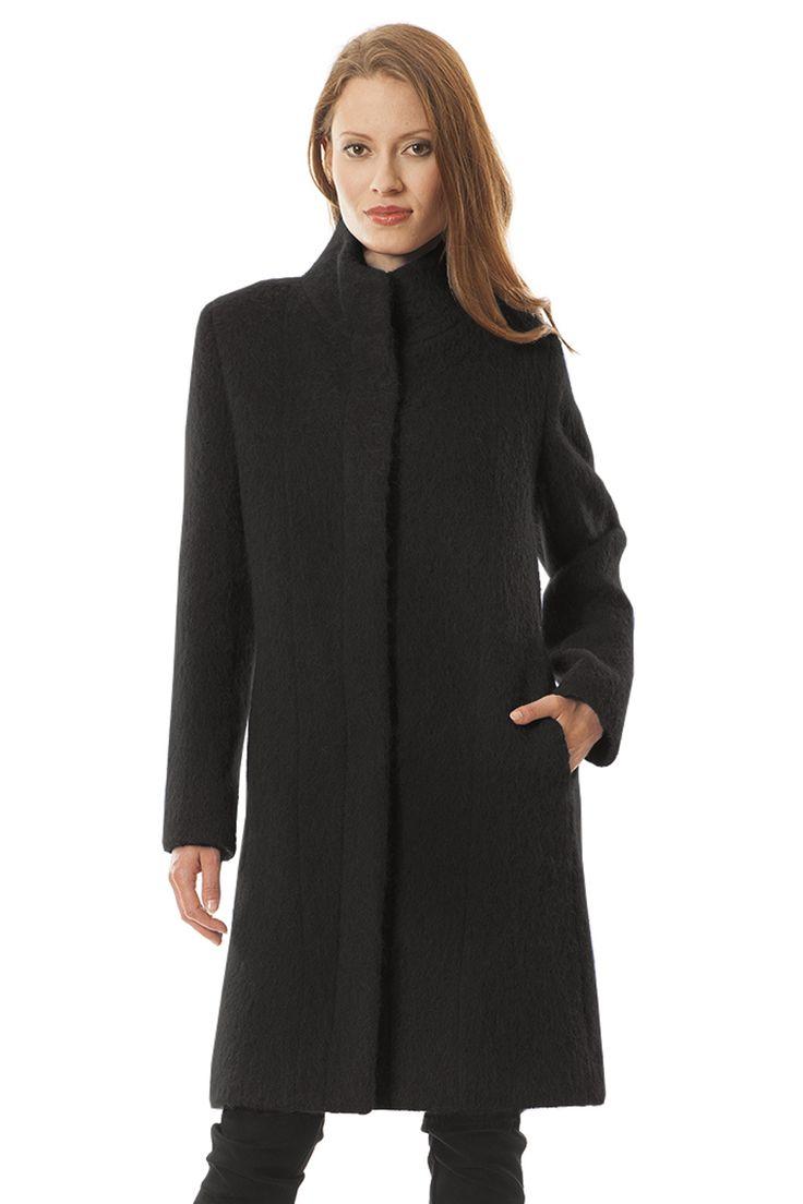 Płaszcz Samanta czarna wełna z alpaką Semper #fashion #semper #aw2016 #fw2016 #fashionbrand #black #coat