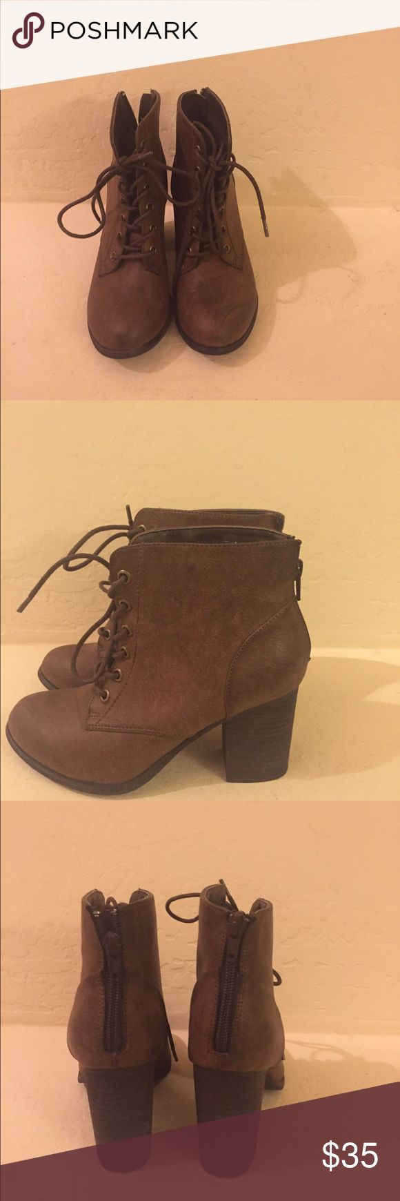 Diba  booties Brown leather ankle boots Diba Shoes Ankle Boots & Booties