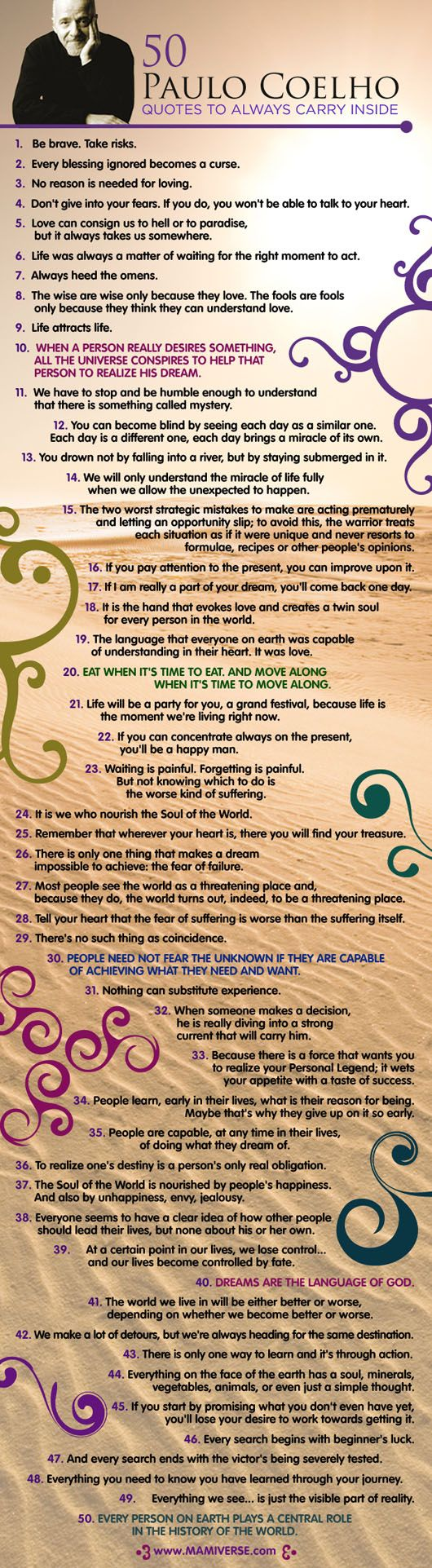 Paulo Coelho inspired..50 Quotes to make Your Day !