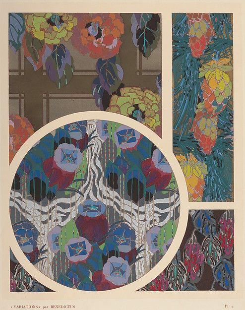 Designed by Edouard Bénedictus (1878–1930   ). Pochoirs by Jean...