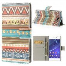 Etui Portefeuille Sony Xperia M2 Design Azteca Hippy 13 7,99 €