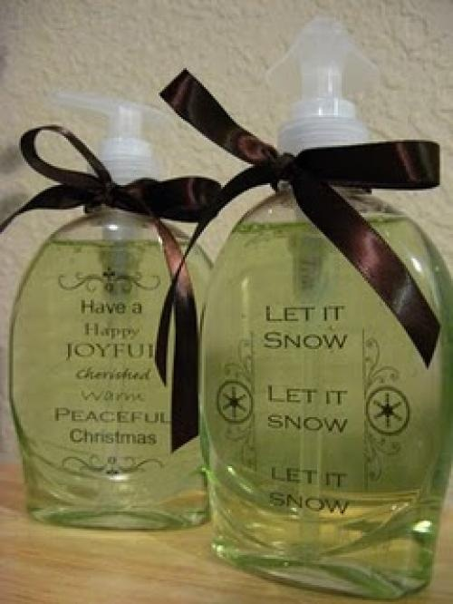 How to personalize a soap dispenser tutorial - This would make a great Christmas gift.