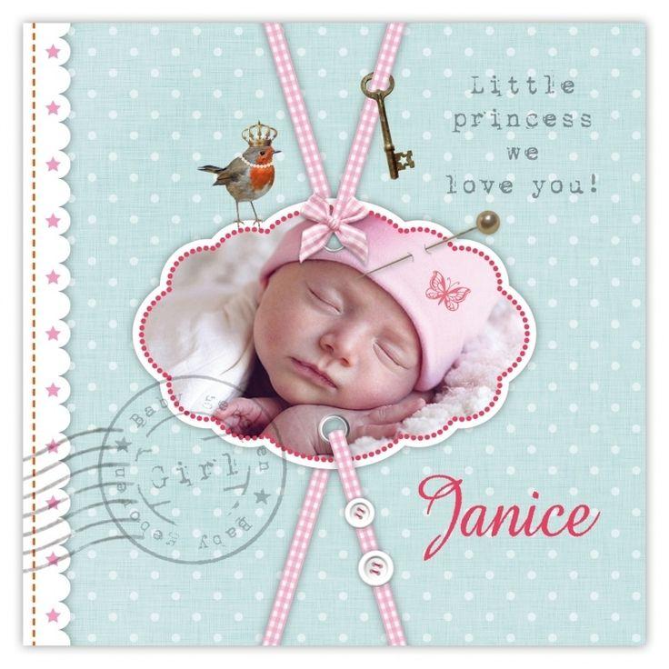 Janice geboortekaartje meisje